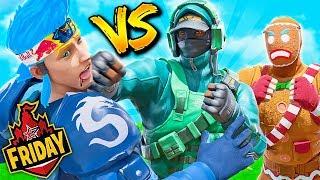 I beat Ninja while carrying Lazarbeam.. (Friday Fortnite)