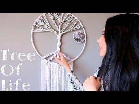 "DIY ""TREE OF LIFE"" DREAMCATCHER | Moon & Light Up Stars"