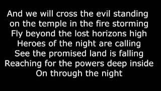 Storming the burning fields-Dragonforce (lyrics)