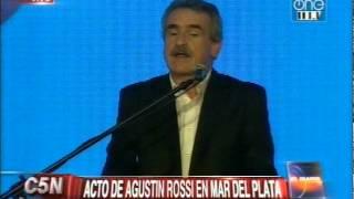 C5N  POLITICA ACTO DE AGUSTIN ROSSI EN MAR DEL PLATA