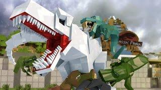 Minecraft   Good vs Evil - JURASSIC WORLD: Dinosaur Extinction! (Indominous Rex vs T-REx)