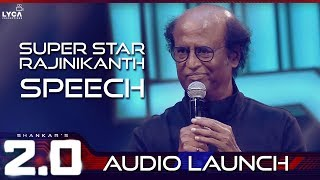 Super Star Rajinikanth Speech at 2.0 Audio Launch | Rajinikanth | Shankar | A.R. Rahman