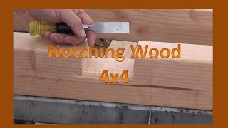 Cutting a Notch in a 4x4 Wood - Working on my Outdoor Off Grid Bathroom