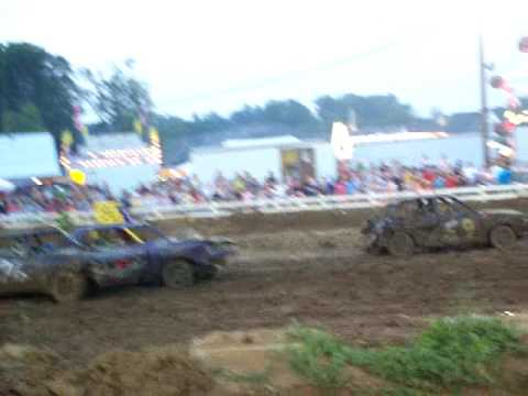 Oldham County Fair (KY) Small Car Demolition Derby Part 1b