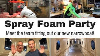 Foam Insulating Our New Narrowboat - Blooper Heaven! (and clipping Spaniels!)