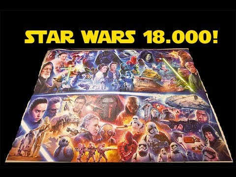 STAR WARS 18.000 PUZZLE COMPLETED / Star Wars 18000 Jigsaw Puzzle Time Lapse Video