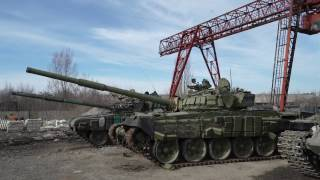 База по ремонту российской оккупационной военной техники в ДНР. Donbass.