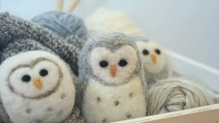 Needle Felted Owl: A Beginners Guide To Felting