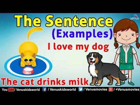 The Sentence (Examples) ~ Grammar Class