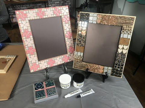 Use Apoxie Paste to Grout a table or mirror