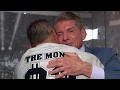 Shane and Mr. McMahon's emotional embrace backstage after WrestleMania, ...