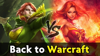 Back to Warcraft Dota — mid Lina vs Windrunner