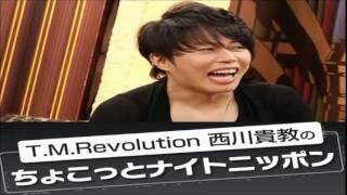 T.M.Revolution西川貴教番組観覧中のはがき職人たちに...