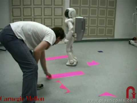 Asimo Autonomously Navigates Moving Obstacle Course