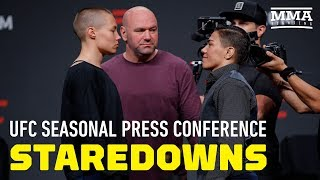 UFC Seasonal Press Conference Staredowns - MMA Fighting