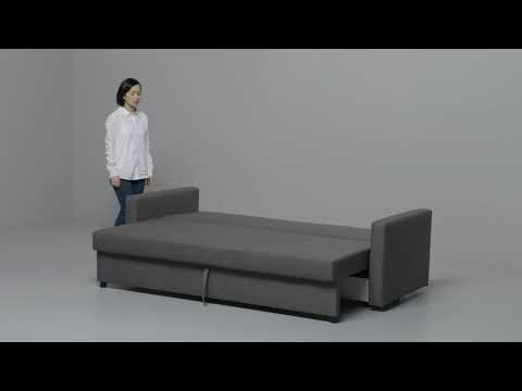 IKEA - FRIHETEN: Anleitung vom 3-er Sofa zum Bett