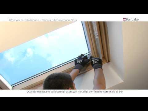 Bandalux | Istruzioni di installazione Tenda a rullo per lucernario Nova