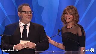 Hollywood loves Harvey Weinstein - montage of Jennifer Lawrence, Meryl Streep, Matt Damon etc