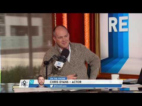 Actor Chris Evans Talks New England Patriots' Super Bowl - 4/13/17