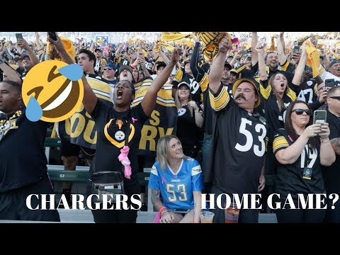 Chargers EMBARRASSED   Steelers Fans TAKE OVER LA