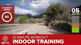 15 Minute Workout - Best Indoor Cycling Training Cardio Session