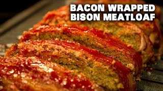 Bacon Wrapped Bison Meatloaf