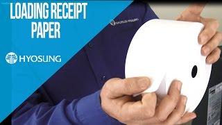 Loading Receipt Paper