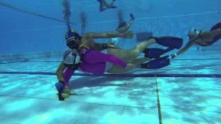 Underwater hockey 3×3 skills fútbol subacuático