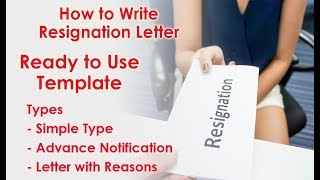 how to write a letter of resignation - Advance Notifications - With Reasons