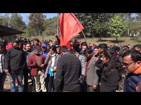 स्ववियु निर्वाचनको माग गर्दै त्रिवि घेराउ