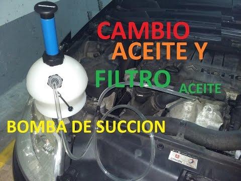 Cambio Aceite Y filtro de Aceite con BOMBA DE ASPIRACION