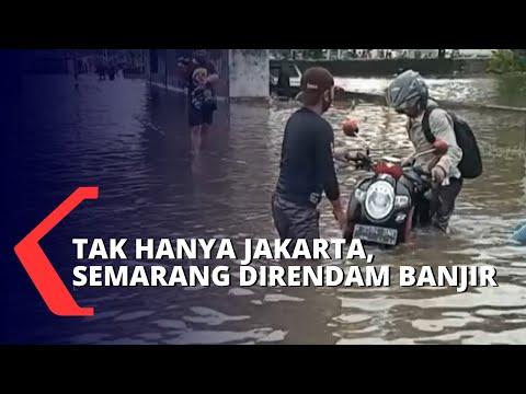Banjir Masih Rendam Semarang, Ganjar Pantau Rumah Pompa