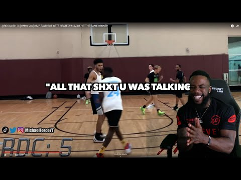 I LIKES THIS!! GETS HEATED! (4V4) @RDCworld1 X @MMG VS @AMP Basketball