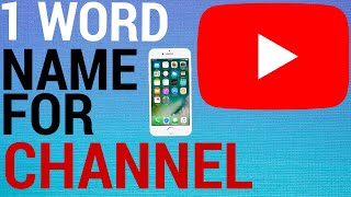 How To Change YouTube Channel Name To 1 Word Only!
