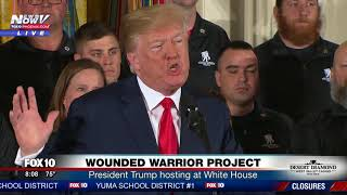 VERY MOVING: President Trump Hosts Wounded Warrior Project - AMERICAN HEROES (FNN)