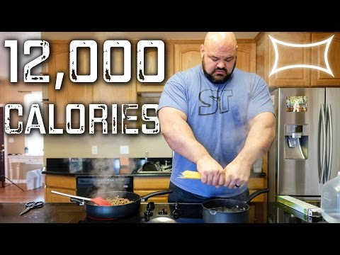 World's Strongest Man — Full Day of Eating (12,000 calories)