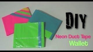 Neon Duct Tape Wallet DIY Tutorial