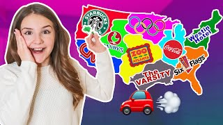 Throwing a Dart at a Map & GOING WHEREVER It Lands CHALLENGE 🎯 | Piper Rockelle