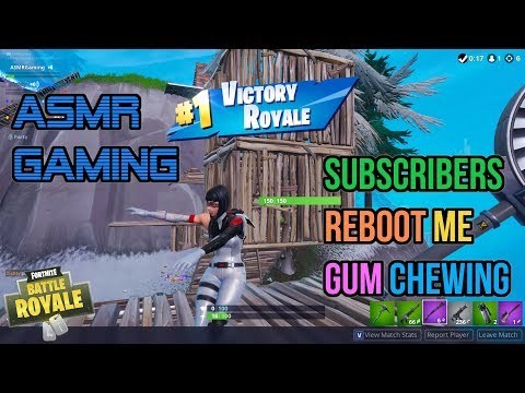 ASMR Gaming | Fortnite Subscribers Reboot Me Relaxing Gum Chewing 🎮🎧Controller Sounds + Whispering😴💤