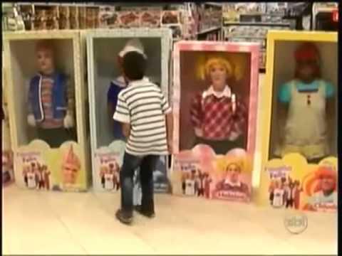 Muñecos Vivos en el Centro Comercial Bromas#2