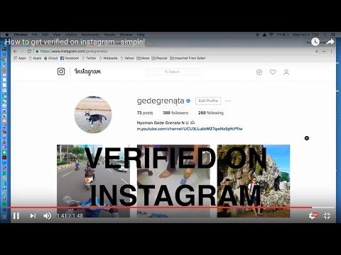 Video Cara mudah mendapat tanda verifikasi akun instagram!