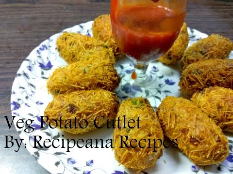 Veg Potato Cutlet Recipe | Morning Breakfast Recipe | Recipeana