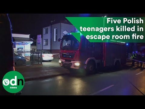 Five Polish teenagers killed in escape room fire