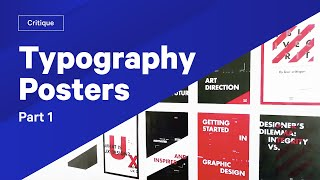 How To Use Type — Typography Posters Review & Critique  Part 1