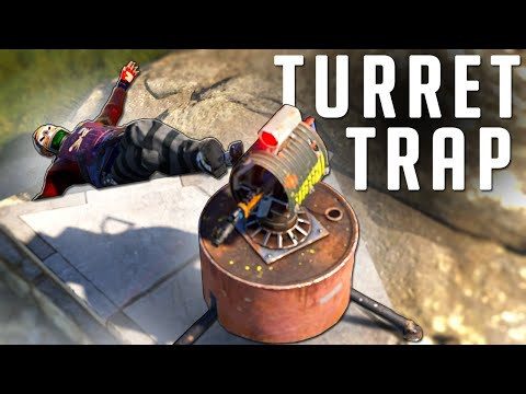 RUST - This Invisible TURRET Made me BANK - Trap Base