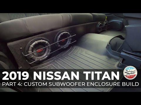 2016-2020 Nissan Titan Custom Subwoofer Enclosure