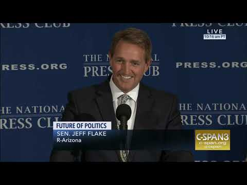 Flake Delivers Remarks at National Press Club