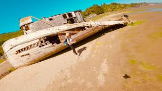 Cinematic FPV | Tyro79 Cinewhoop with a GoPro Hero 8 | Abandoned Shipwreck ????