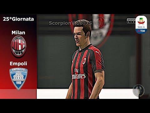 FIFA 19 • Milan Vs Empoli 25°Giornata • Piatek: Ha Cambiato il Milan • Trasferimenti 13/02/19 [Giù]
