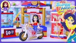 LEGO DC Superhero Girls Wonder Woman Dorm Build Review Silly Play Kids Toys